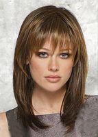 Style de cheveux de mode Medium Long Straight perruque de femmes livraison gratuite
