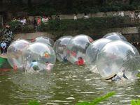 2m giganti gonfiabili Palle Zorb palle adulti bambini Sfera ambulante dell'acqua Ballando palla sfera di sport camminare sull'acqua con cerniera giocattolo PVCfloating galleggiante