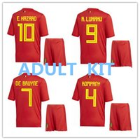 TOP QUALITY 2018 World Cup Belgium Home red Soccer jersey 17...