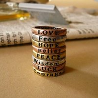 Rings for Women Lovely 8x Retro Wish Letters Cut Above Knuck...
