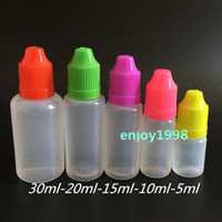 Colorful LDPE E Liquid Needle Bottle 5ml 10ml 15ml 20ml 30ml...