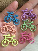 Estilo mezclado Aleación Bicicleta Encanto Colgante de color mezclado encanto 30 unids / lote