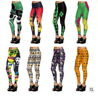 Halloween Leggings Womens Fashion Graffiti Pumpkin Slim Legg...