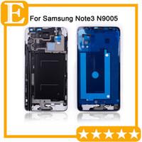 OEM için Samsung Galaxy Note 3 LTE 4G VS N9005 Ön Ekran LCD Panel Çerçeve Orta Bezel Konut + Home Düğmesi Değiştirme Gümüş 50PCS