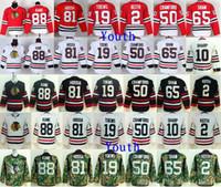 Junior 2 Blackhawks de Chicago Hockey Keys Duncan Keith 19 Jonathan Toews 65 ans Andrew Shaw 81 ans Marian Hossa 88 Maillot Patrick Kane pour enfants