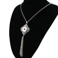 Women ' S Vintage Tassel 18mm Snap Button Necklace Boho ...