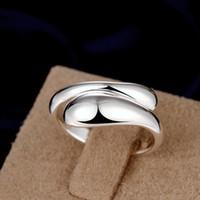 En vente Femme Bague 30% Silver Bague et platine remplie de bagues Set noble Charmes Anneaux de mariage pour femmes Bijoux de filles