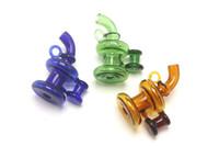 Colorful Cappelli Vetro Carb Cap di vetro per tubo di acqua Nail pettine Vetro Accessori Per Oil Rig quarzo banger Bong
