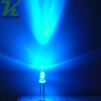 1000pcs 3mm 3mm Blue Round Water Clear LED Light Light Light Light Emitting Diodo Ultra Bright Plug-in Plug-in Kit fai da te Pratica Ampio angolo