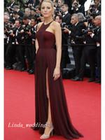 Blake Lively Jennifer Lopez Gossip Girl une ligne-princesse sans manches en mousseline de soie volants parole longueur robe de soirée de célébrité