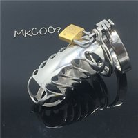 Metal stainless steel male chastity device boy chastity cage...