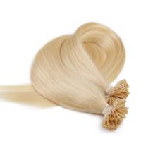 9A 100% capelli remy umani del chiodo / U punta in estensione di capelli con 24 '', 1g / Strand 100g / Lot