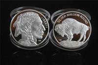 شحن مجاني 5 قطعة / الوحدة 1 أوقية 999 غرامة الأمريكية الفضة بافالو نادر عملة 2015 + النحاس تصفيح الفضة عملة