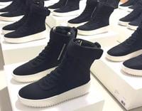 Без обувной коробки Свободный размер DHL 36-46 Боевые кроссовки «Страх Божий» Черный нейлон Джерри Лоренцо ФОГ Сделано в Италии Высокие сапоги зимней моды