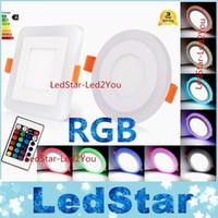 6W 9W 18W 24W RGB LED Downlights RGBW Dimmable LED Downlight Luzes De Teto AC 110-240V + DRIVERS