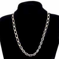 Men And Women Gold silver tone O chain Necklaces 316L Stainl...