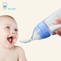 120ml full silicone rice paste bottle with squeeze spoon, dr...