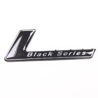 1 unids Aluminio Negro Serie sticker Emblema para W204 W203 W211 W207 W219 Auto car Para AMG insignia