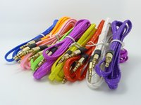 SALE 200pcs Braided AUX 3. 5mm Stereo Auxiliary Car Audio Cab...