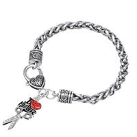 Бесплатная доставка я люблю волосы красный хрусталь ножниц сердца шарм омар застежка для женщин