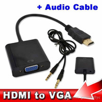 Hot New HDMI to VGA with 3. 5mm Jack Audio Cable Video Conver...