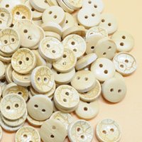Wholesale Acces 100PCS 2- hole Wooden Buttons Handmade with D...