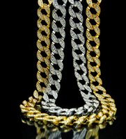 Hip hop cuban chain necklace with cz paved for men jewelry w...