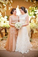 Champagne Lace Mother Of The Bride Dresses Plus Size Scoop N...