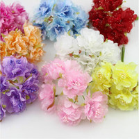 60pcs 4cm silk Carnations with gauze Stamen Artificial flowe...