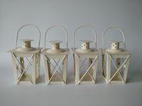 Белые / черные металлические подсвечники железный фонарь свадебные центры марокканцы