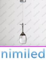 NIMI745 Iluminación interior Acrílico LED Lámpara Colgante Lámpara Lámpara Lámpara Luz Luz Luz Arañas 3W Forma de vidrio Forma Breve Luces de Navidad