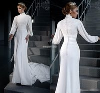 New Designer Vestidos Modest Muslim Plus Size Wedding Dresse...