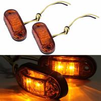 12v / 24v LED Remolque Camión Despeje Luz de marcador lateral Sumergible Ancho de la lámpara Despeje de la lámpara Car Styling