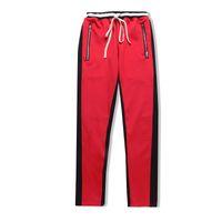De haute qualité Nouvelle glissière latérale pantalon jogger de pantalons hommes occasionnels pantalon couleur verte