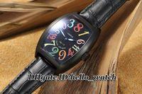 Wysokiej jakości Tanie nowe Crazy Hour Color Dreams 7851 SC COL Dr Automatyczne męskie Zegarek Czarny Dial Skórzany Pasek Męskie Zegarki