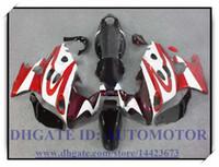 Kit carenatura 100% nuovo di alta qualità adatto per Suzuki GSX600F / 750F 1997-2005 GSX 600F GSX750F 1998 1999 2000 2001 # KS992 ROSSO BIANCO
