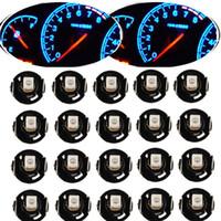 10 / 20Pcs Instrument LED-Glühlampe T4 T4.2 2835 1SMD Weiß Blau Rot Grün Neo-Keil-Meter-Panel Messgerät Climate Control LED-Birnen-Universal-