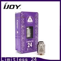iJoy Limitless 24 RDA atomizador reconstruindo Elektronik Sigara vaporizador com Flip Top Cap e 2 Post Banhado a Ouro Build Deck 24 tanque 0266103