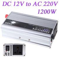 DOXIN Portátil Car Power Inverter DC 24 V 12 V para AC 220 V 110 V 1200 W móvel Auto veículo Car Power Converter Transformer Carregador f / bateria
