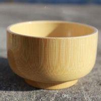 freies Verschiffen facChildren Geschirr Babyschale Bambusschüssel natürliche Qualitäten von Holz ohne Farbe kleine hölzerne Schüssel Suppenschüssel Korean Angebot