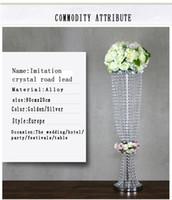 Pieza central de mesa de cristal de metal de plata / decoración de mesa / de boda carreteras ventanales de la vela Florero para eventosHotelPartyHome Decoración