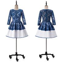 NEU! Pretty Lace Satin Jewel Ausschnitt Short A-Line Homecoming Kleid mit langen Ärmeln Cocktailkleid vestidos de formatura curto