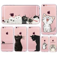Cute Cat Case Cover For Apple iPhone 6 6s 7 Plus Transparent...