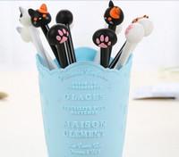 Оптовая продажа гелевая ручка бесплатная доставка 100 шт. / Лот Творческий милый котенок кошка коготь ручка ручка иглы полный 0,38 мм черный 175