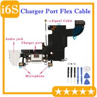 10PCS شاحن USB شحن ميناء موصل سماعة الصوت قفص الاتهام الكابلات المرنة للحصول على استبدال اي فون 6S 4.7 6S '' زائد 5.5 بوصة