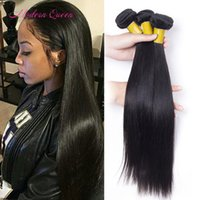 8A Cheap Brazilian Straight Human Hair Extensions 3pcs Brazi...