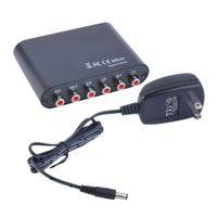 Freeshipping AC3 / DTS numérique audio optique à 5.1 / 2.1 canaux stéréo convertisseur analogique RCA en gros