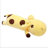 Colorful giraffe plush kids toys stuffed animals 6colors children's pillow birthday presents Soft pillow Christmas gifts