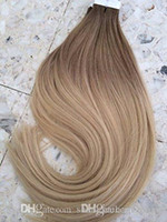 "14"" to 24inch Color #6 And Color #613 Blonde Ombre Human..."