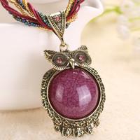 Старинные ретро медь Fringe длинное ожерелье женщины смолы бусины ожерелье ювелирные изделия этнические чешские Ожерелье для женщин